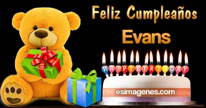 Feliz Cumpleaños Evans