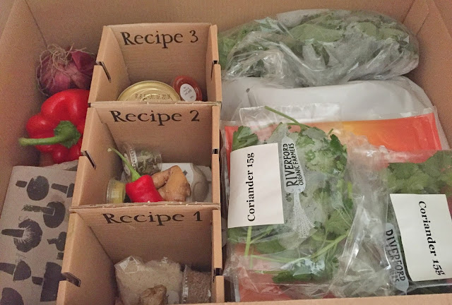 Riverford recipe box contents