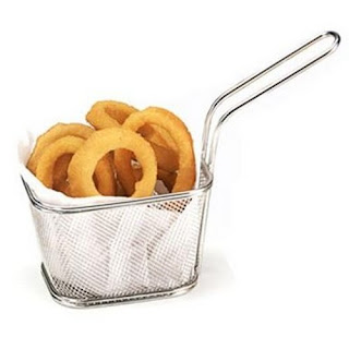 French fries basket, fryer basket, mesh basket, serving basket