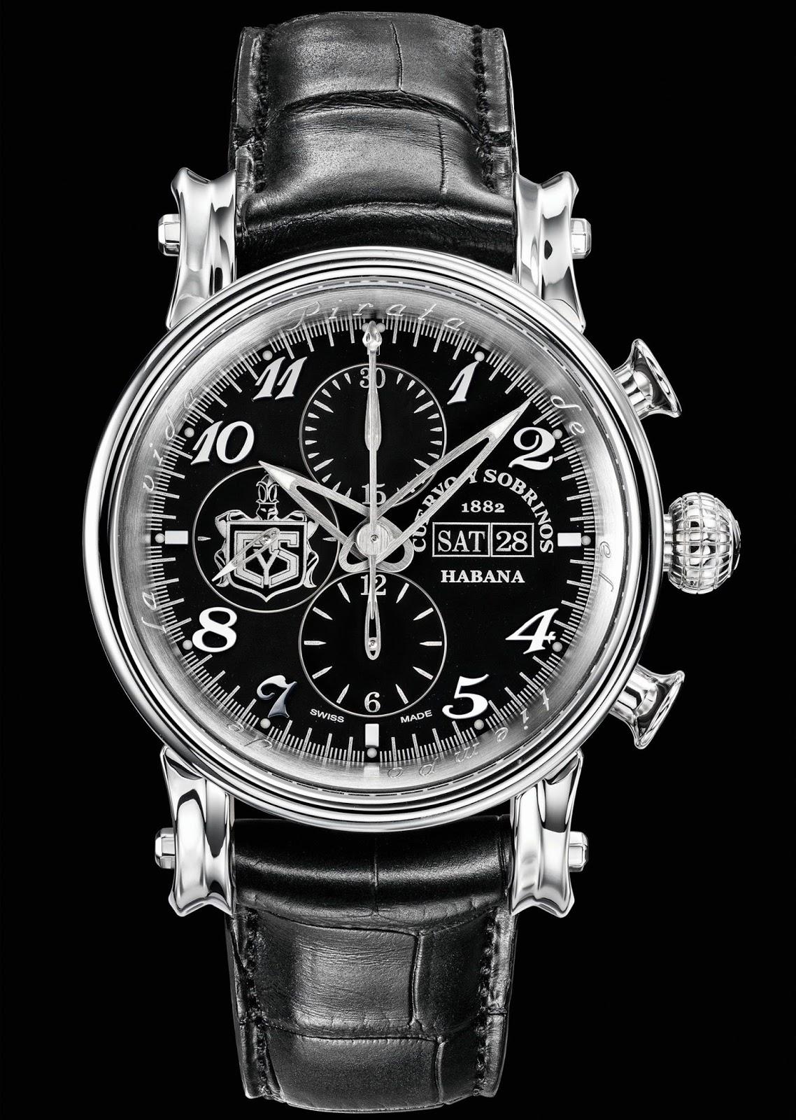"""Neue Uhr : Cuervo y Sobrinos Torpedo Pirata """"Crono Day Date"""" - UhrForum"""