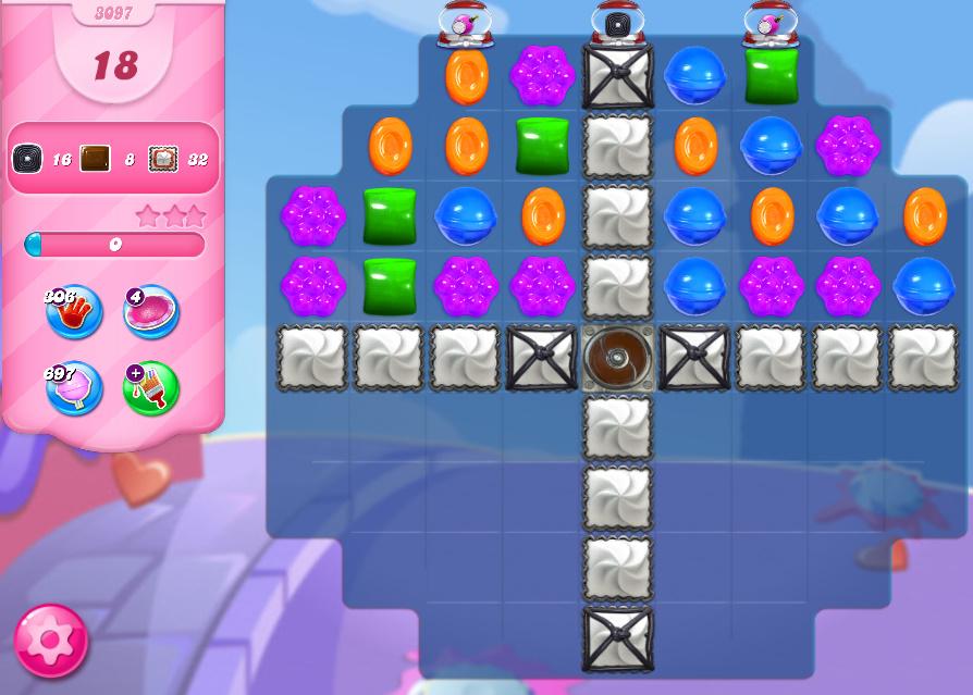 Candy Crush Saga level 3097