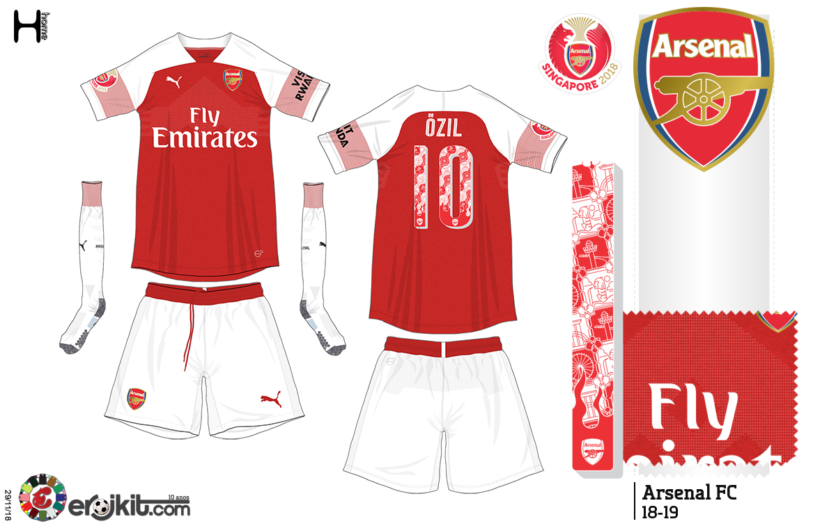 Camisa usada na turnê asiática do Arsenal 4eede73219ae6