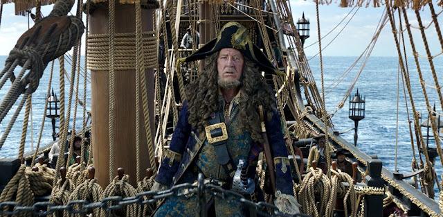 Hector Barbossa (Geoffrey Rush) dans Pirates des Caraïbes : La vengeance de Salazar