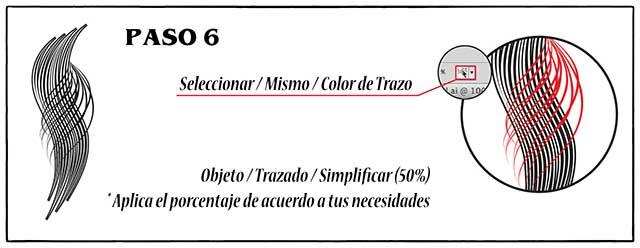 Tutorial en español de Adobe Illustrator para Crear Cabello Estilizado Paso 06