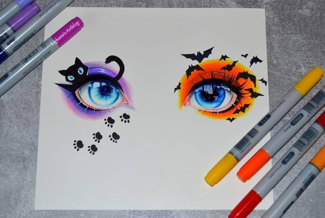 03-The-eyes-Lisa-Saukel-Great-Detailing-in-Fantasy-Drawings-www-designstack-co
