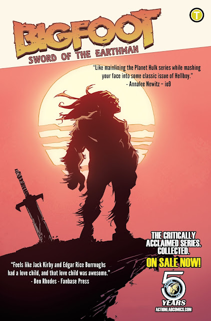 bigfoot sword of the earthman bigfoot comic action lab entertainment bigfoot graphic novel barbarian comic books sasquatch comics