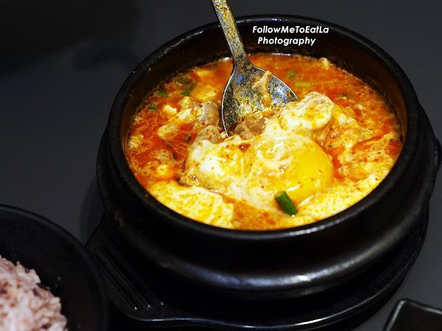 Cheese Soondubu Jigae - Beef RM 21.90 ala carte / RM 24.25 Set