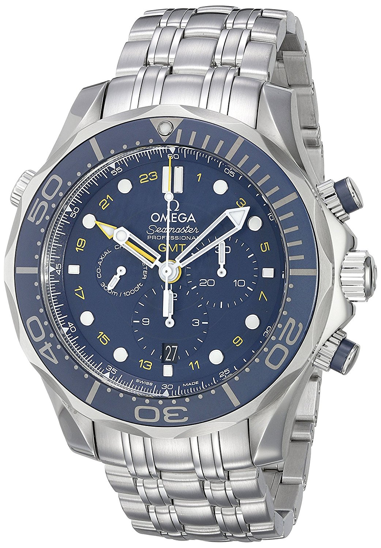 Seamaster Omega sub, 300 m, coassiale 212,30.44,52.03,001 GMT-Orologio cronografo da uomo