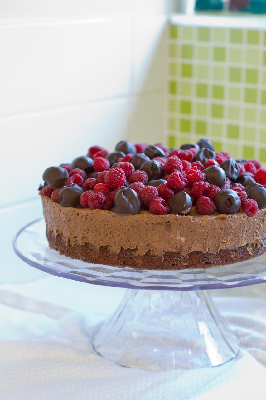 Make It Perfect Triple Chocolate Browine Mousse Cake