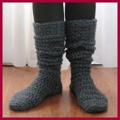 Calcetines altos crochet