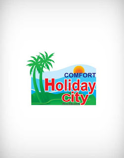 holiday city vector logo, holiday city logo, holiday city, holiday, city, restaurant, food court, bar, hotel, ice cream, fast food, rich food, sweet, curt