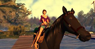 Inworldz horse riding