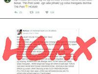 Hoax TNI Ancam Polri