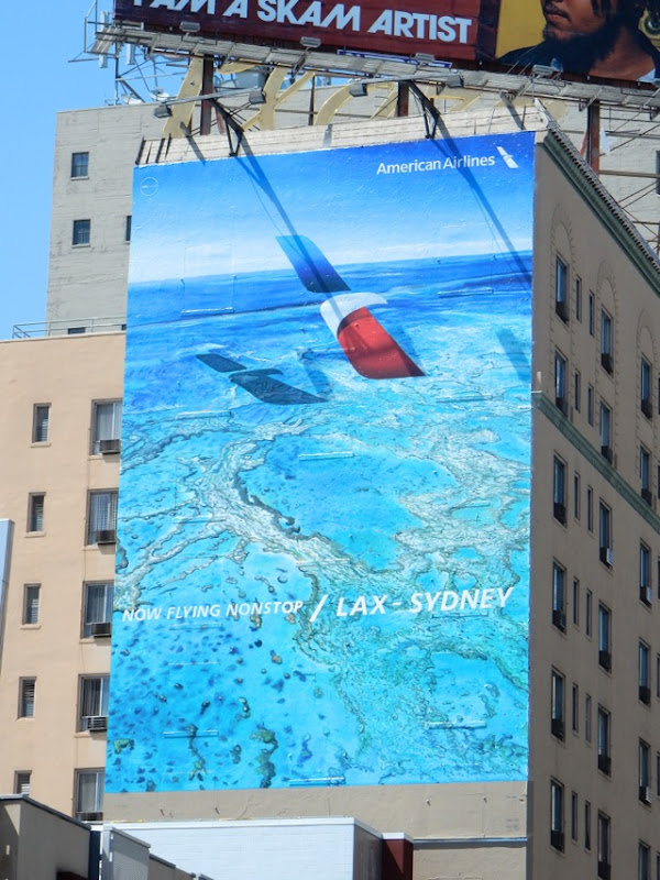 American Airlines nonstop LAX Sydney billboard