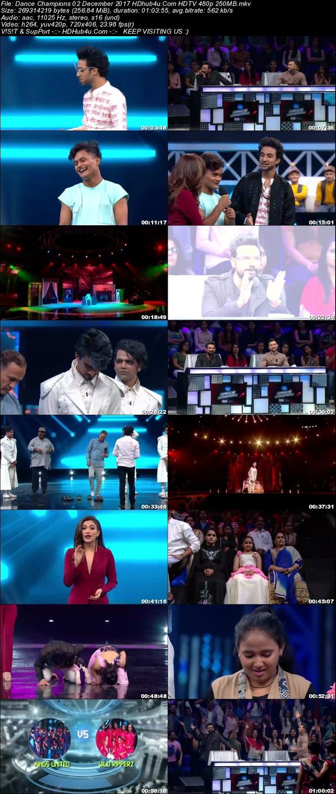Dance Champions 02 December 2017 480p HDTV 250MB Download