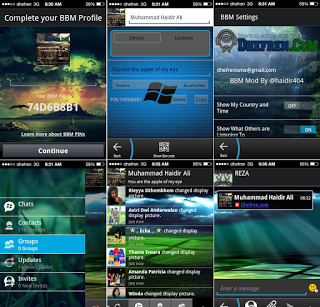 BBM MOD GINGERBREAD DARK WINDOWS