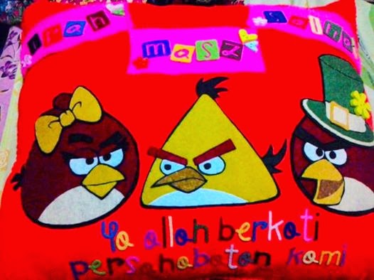 bantal angry bird, customade bantal angry bird