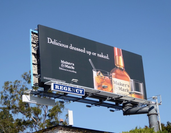 Delicious dressed naked Makers Mark billboard