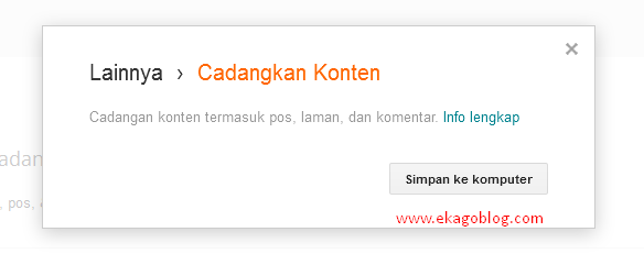 Cara Backup Data Blogger Anda