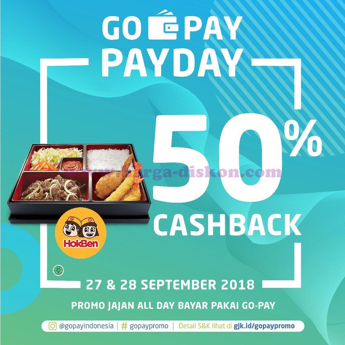 Promo Hokben Terbaru Cashback 50 Dengan Gopay Periode 27 28 September 2018 Harga Diskon