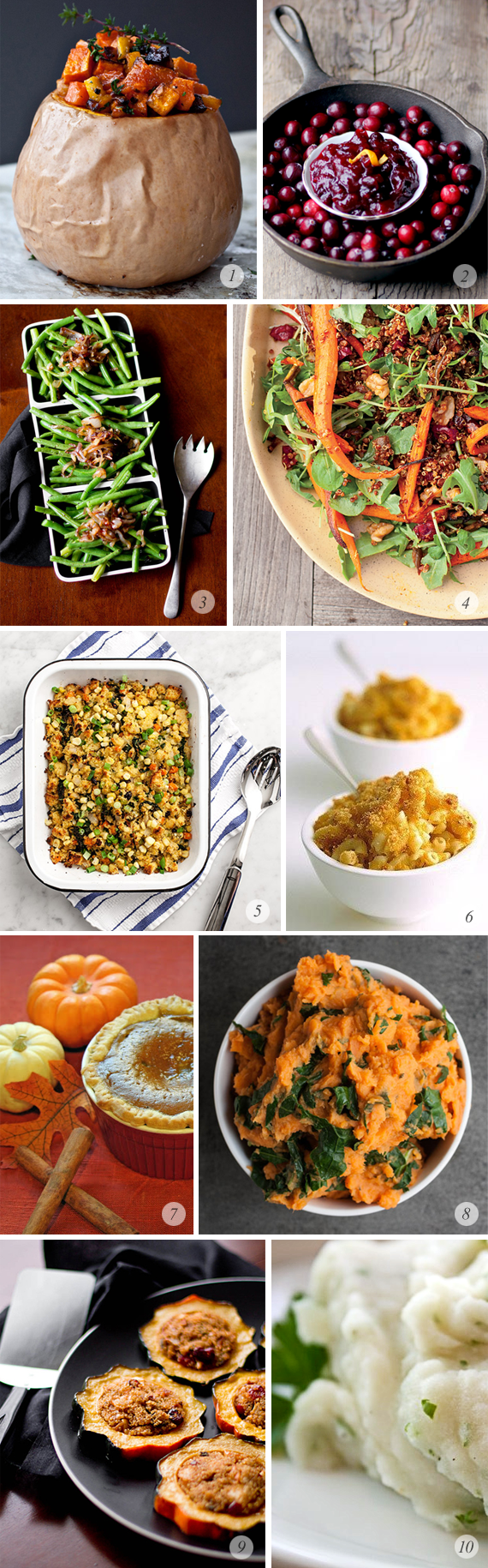 10 Great Vegetarian Thanksgiving Recipes // Bubby and Bean