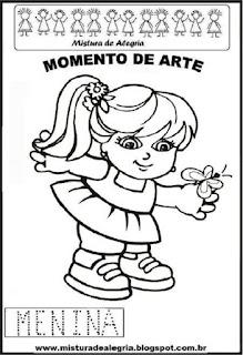 Projeto Pátria, desenho de menina