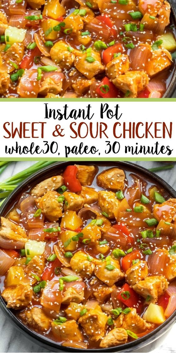 Whole30 Instant Pot Sweet & Sour Chicken