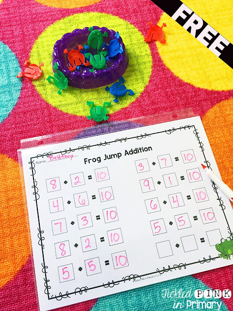 Dollar Tree - Addition and Subtraction Freebie
