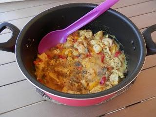 Recette provencale de poulet en fricassé sauce legere