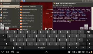 kali linux vmware screen show applications