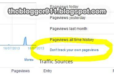 How To Stop Tracking Your Own Pageviews by Blogger Stats