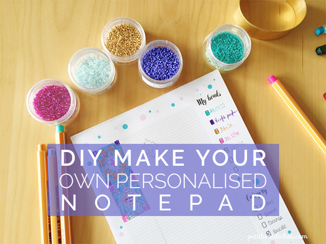 DIY Make your own personalised notepad