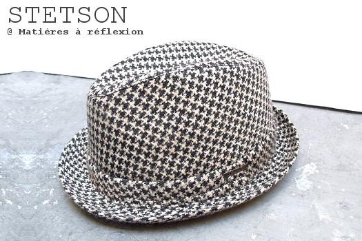 Chapeaux Stetson noir et blanc