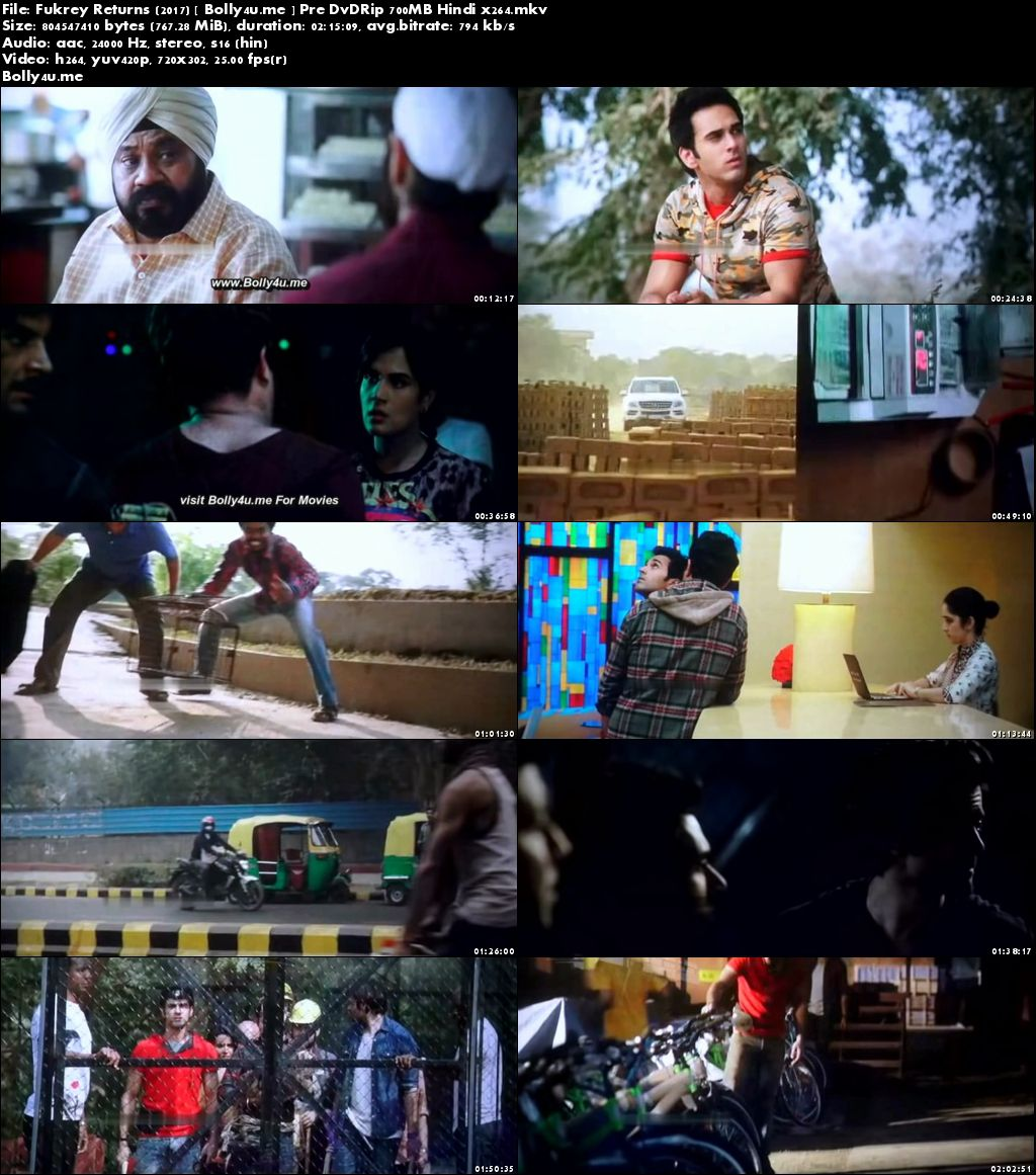 Fukrey Returns 2017 Pre DVDRip 400Mb Full Hindi Movie Download 480p