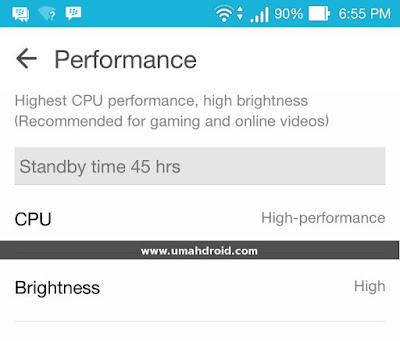 Performance Mode ASUS Zenfone