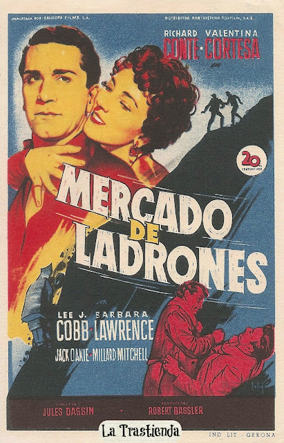 Mercado de Ladrones - Folleto de mano - Richard Conte - Valentina Cortesa