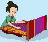 gambar proses pembuatan kain tenun