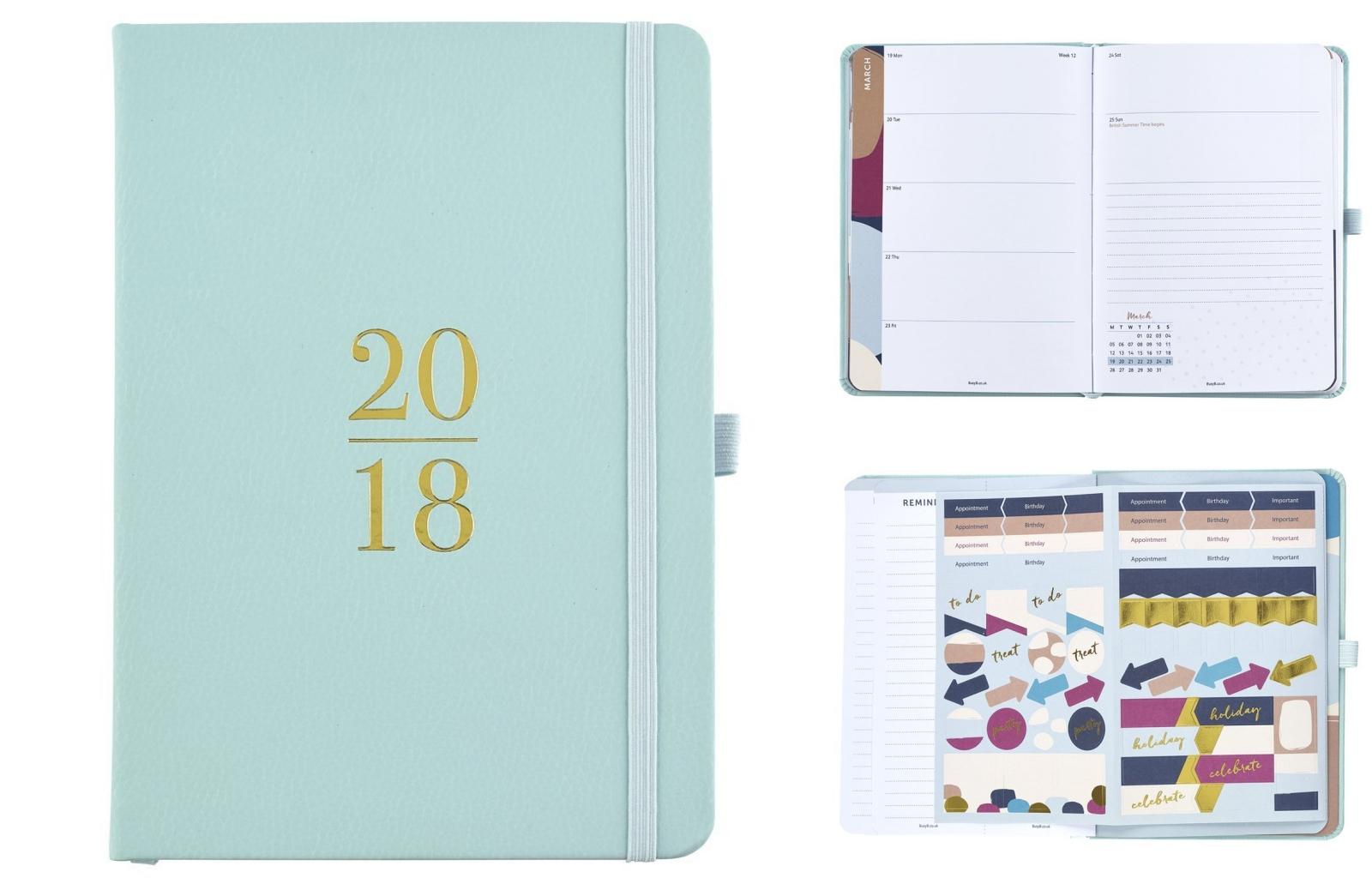 agenda, 2018, planner, Amazon, Busy B, pastel