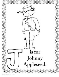 jonny appleseed coloring pages - photo#11