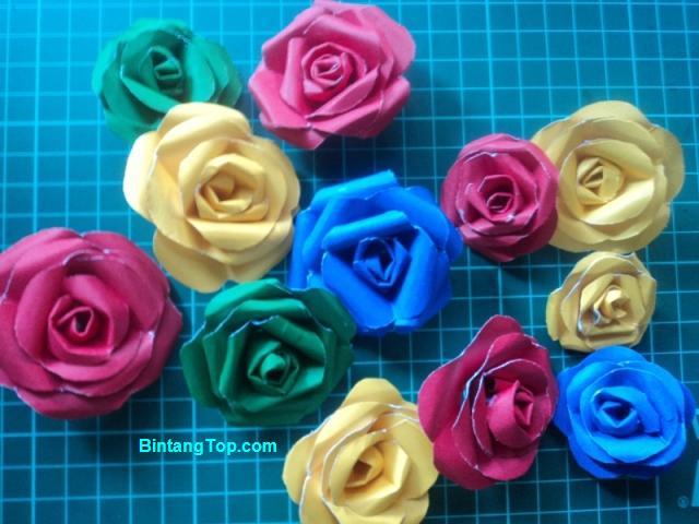 Kerajinan Bunga Mawar dari Kertas Asturo - Paper Rose Flower