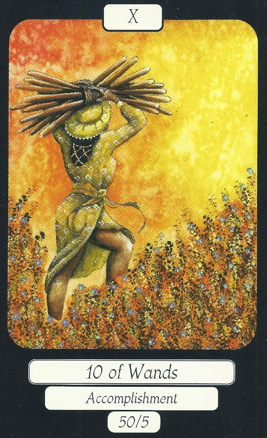 Ten of Wands, Merry Day Tarot, Louisa Poole