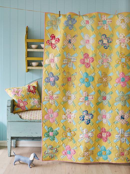 Apple Butter Scrapflower Quilt Free Pattern Designed By Tildas World