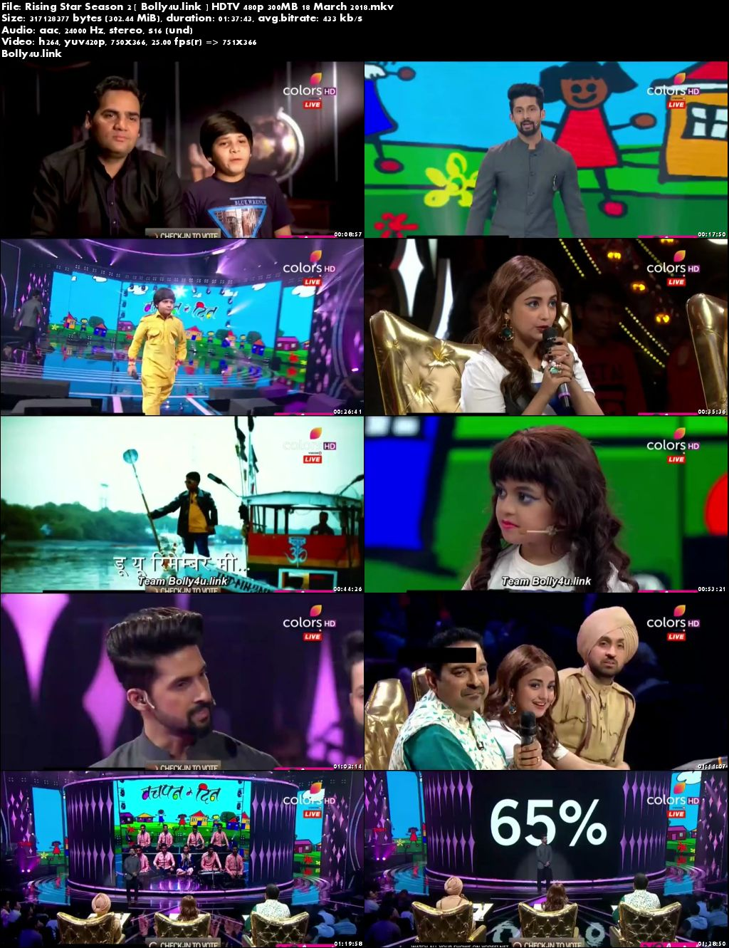Rising Star Season 2 HDTV 480p 300MB 18 March 2018 Download