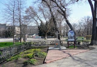 Павлоград. Крест на месте взорванного Свято-Вознесенского собора