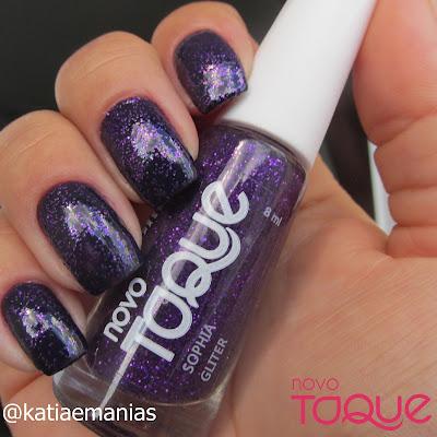 Novo Toque, glitter, Born Pretty, katiaemanias, La Femme,