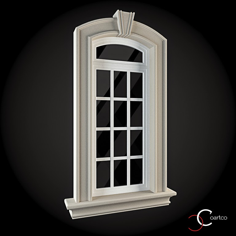 Ornamente Geamuri Exterior, fatade case cu profile decorative polistiren, profile fatada,  Model Cod: WIN-036