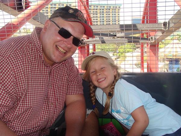 Riesenrad-Fahrt mit meiner Tochter in Disneyland, trotz Höhenangst!