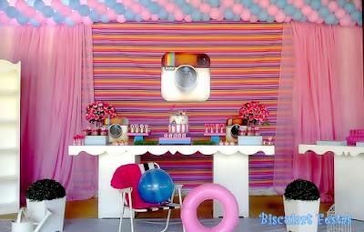 Resultado de imagem para decoração festa com tema instagram