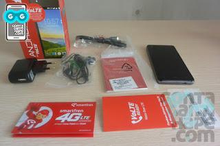 Smartfren Andromax E2+, kelengkapan dalam paket penjualan