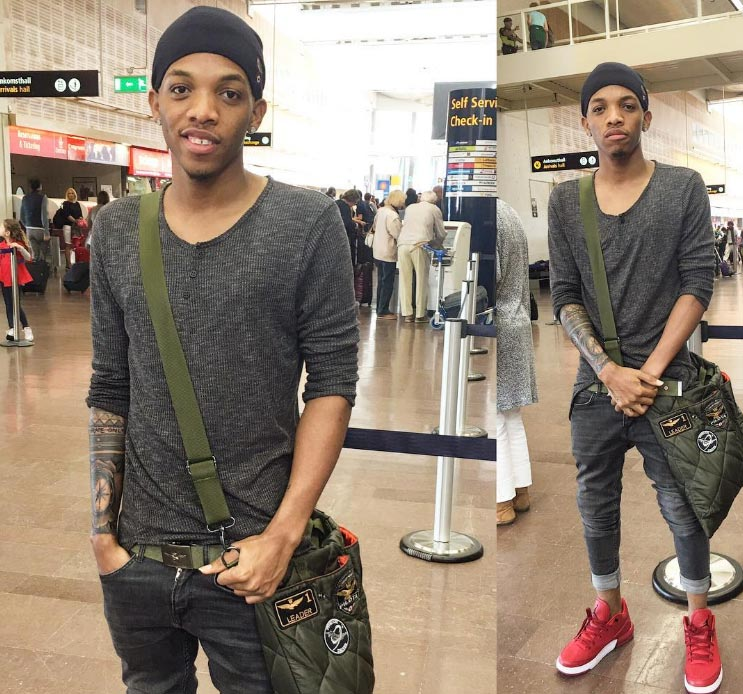 Tekno looks cute as he steps out in sneakers